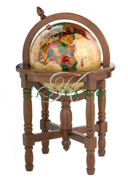 Wooden World Globe with Floor Stand (Free Shipping ) Unique world globe is hand-carved.  1,000 pieces of the world's finest Asian Maple wood are hand cut and positioned to create this incredible example of craftsmanship.  Colorful continents consist of 635 pieces of hand-carved, hand-painted maple, each hand labeled and positioned with preciseness.