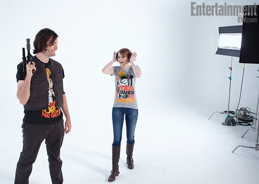 Video: Outtakes From Emma Stone And Bill Hader's Star Wars Shoot For 'Stand Up To Cancer'