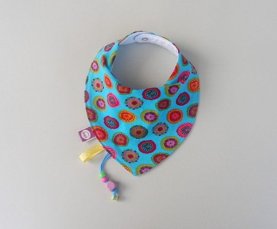 Baby Bandana Dribble Drool Bib Neck Scarf Bibs Absorbent baby accessory Gift for baby, infant and toddler turquise red