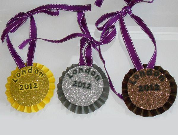 DIY paper medals #olympics