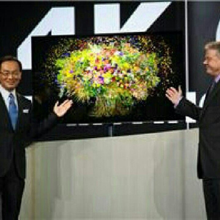 The world's first 4K large-screen OLED TV! Seen at CES 2013.