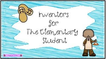 What's Included A Research packet on 12 inventors for the elementary student. Inventors: Alexander Graham Bell, Ben Franklin, Eli Whitney, George Washington Carver, Henry Ford, Johannes Gutenberg, Samuel Morse, Steve Jobs, Thomas Edison, Tim Berners Lee, William J.