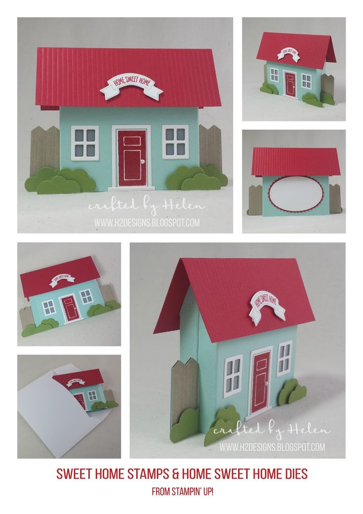 H2 Designs   Stampin Up Home Sweet Home Dies & Sweet Home Stamps pop up box card