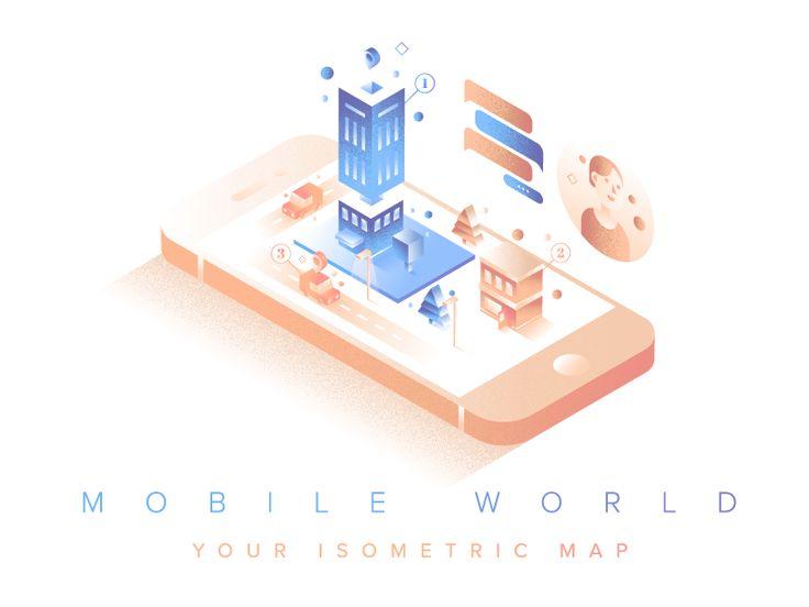 Mobile World Full Illustration