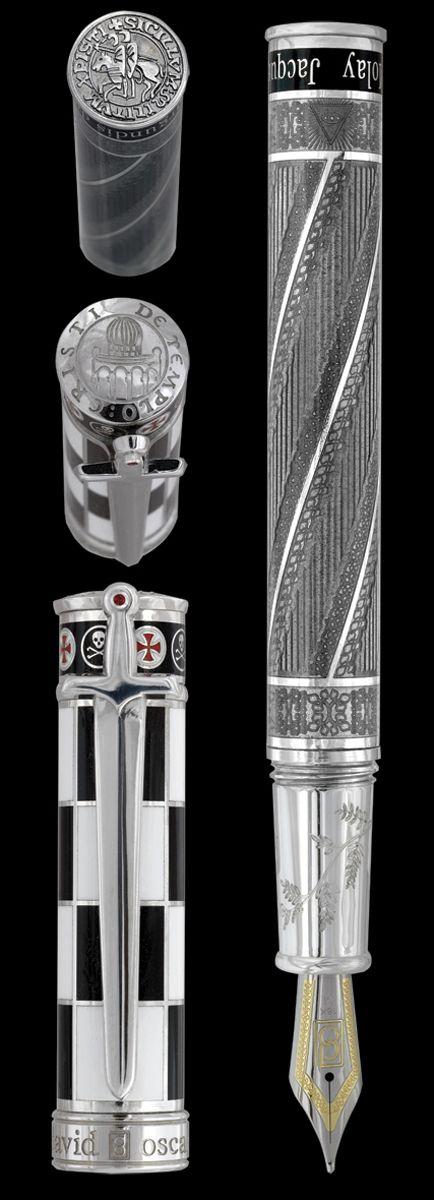 Alguien que a quiera donarla para el día del padre..... David Oscarson, Jaques de Molay fountain pen. Awesome.