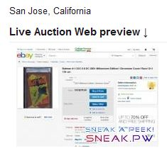 New Feature: Snapshot of the online eBay Auction! Increase the confidence of your Users!