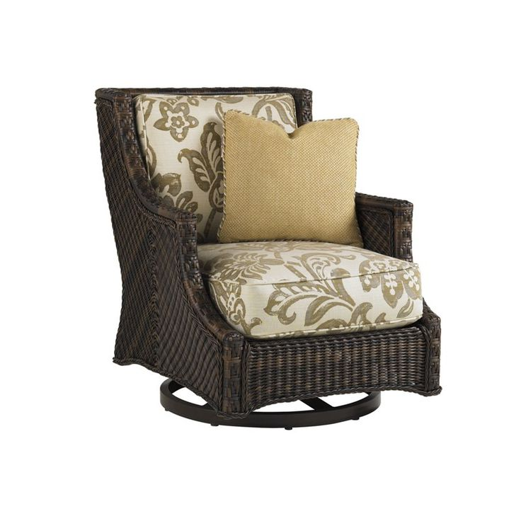 Tommy Bahama Island Estate Lanai Patio Swivel Chair in Warm Umber