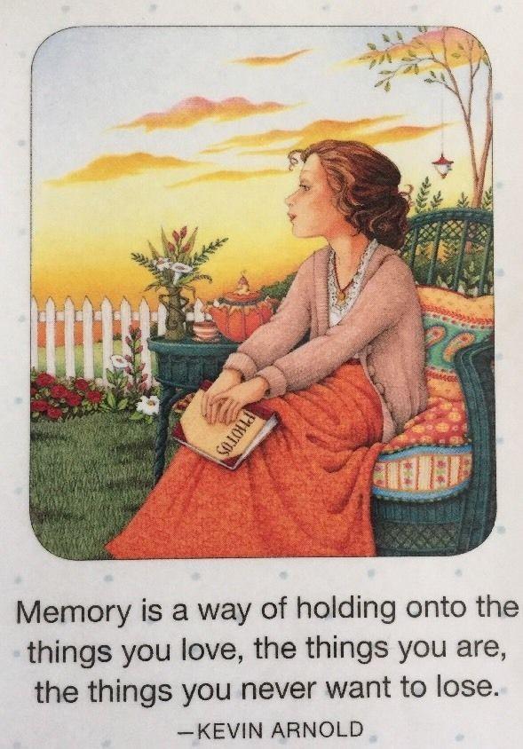 Handmade Fridge Magnet-Mary Engelbreit Artwork -Memory