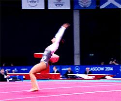 This is something that I can only doi in my dreams but oh so fun to watch! Gymnastics Gifs - Claudia Fragapane - Commonwealth Games 2014
