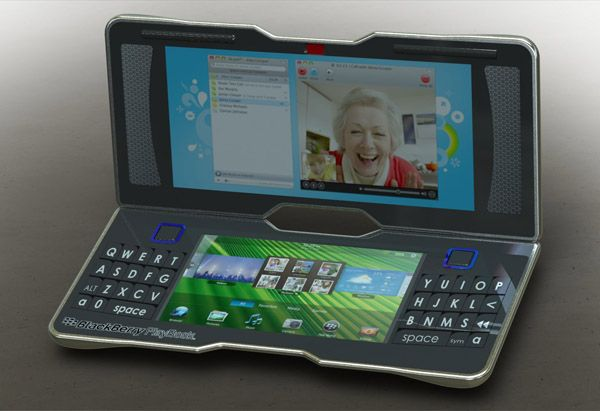 BlackBerry PlayBook 3.0 concept With Double Trackpads - http://www.bbiphones.com/bbiphone/blackberry-playbook-30-concept-double-trackpads