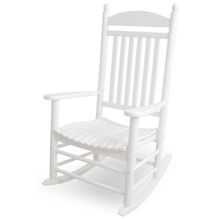 Outdoor POLYWOOD® Jefferson Recycled Plastic Rocking Chair White - J147WH
