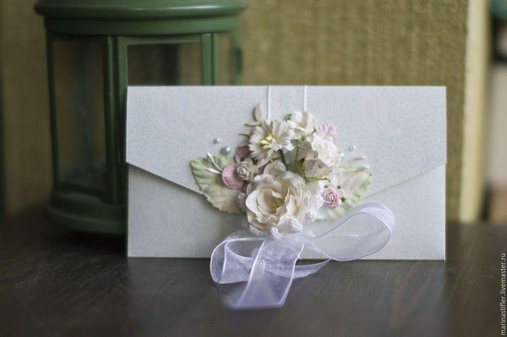 Купить Цветочные конвертики - комбинированный, конверты ручной работы, конверты…