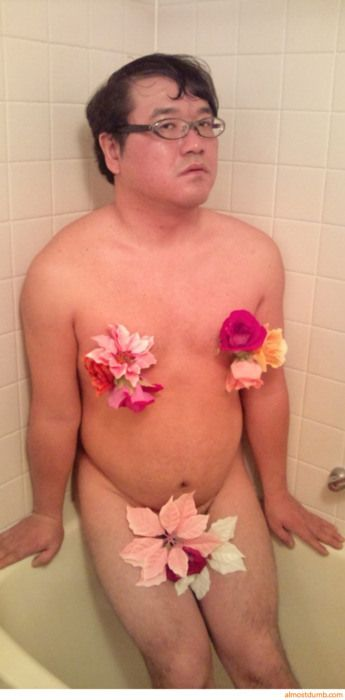 Midget in the shower