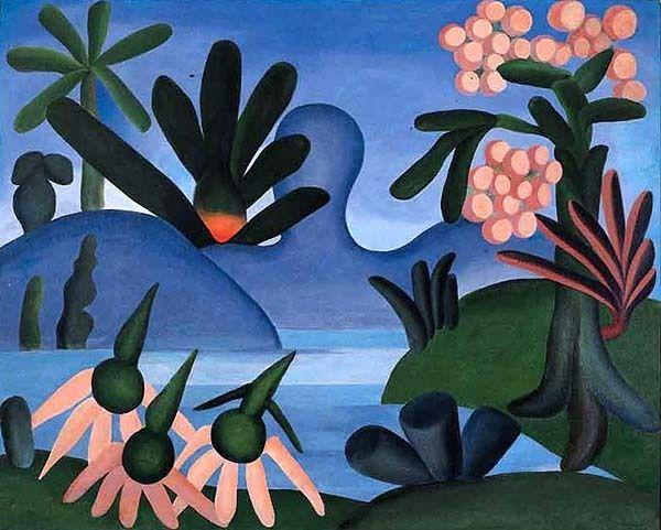 """El Lago"" - Tarsila Do Amaral (1928)"