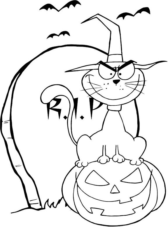 Halloween Coloring Pages Decorations Coloring Pages