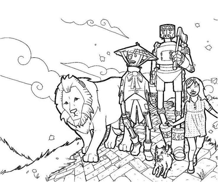 free kids printable of wizard of oz coloring pages