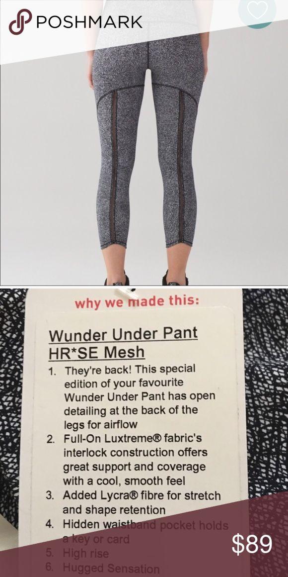NWT Lululemon Wunder Under Pant Mesh pant