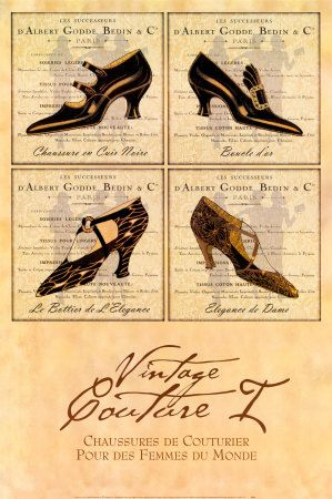 Couture vintage I Stampa artistica di Susan W. Berman