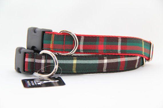 Newfoundland Tartan Dog Collar by CollarsBySerena on Etsy, $14.00