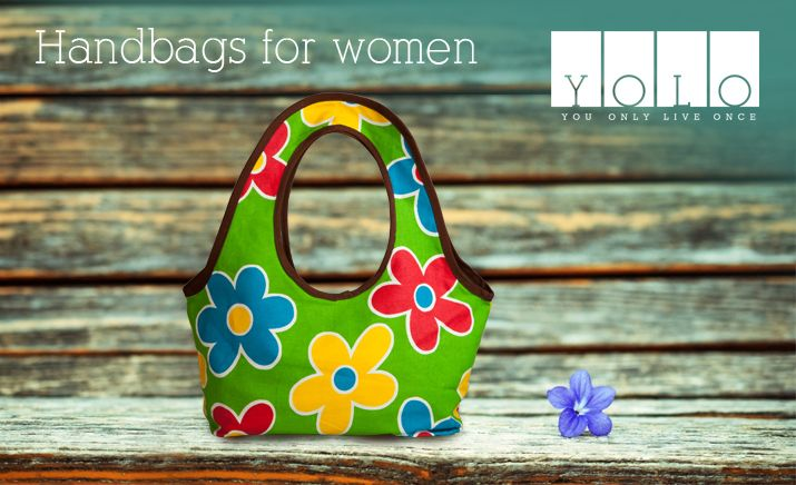 Colorful Floral Print Handbags for girls from YOLO