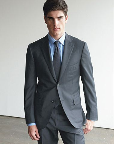 Grey Suit Dark Blue Shirt | My Dress Tip