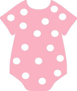 Christmas decorations ideas - Pink Polka Dot Onesie Clip Art Baby Polka Dots Minus Clipart Baby