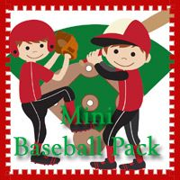 Free Mini Baseball Pack - Over 22 pages of activities. 3Dinosaurs.com