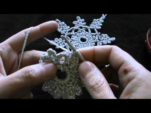 crochet snowflake part one