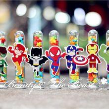 Superhéroe The Avengers Caja de Dulces Caja de Regalo de dulces de postre mesa de Suministros Fiesta de Cumpleaños Decoraciones Del Partido Kids bebé Torta de La ducha(China (Mainland))