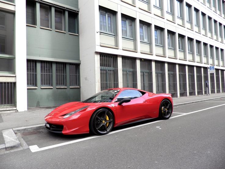 458 Italia with perspective