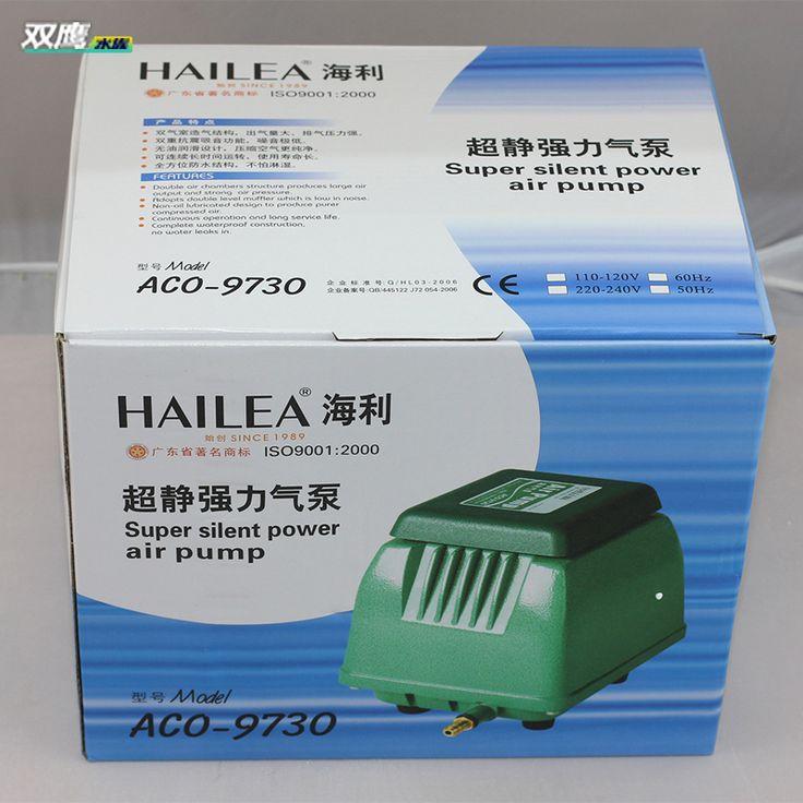 50W 60L/min Hailea ACO-9730 Super Silent Aquarium Fish Tank Power Air Compressor Pump Koi Pond Water Garden Aeator Pump #Affiliate