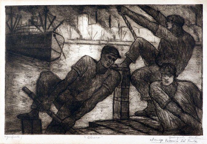 Obreros : Benito Quinquela Martín