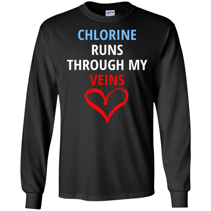 Awesome Swim Competition Shirt - Chlorine Runs Thru My Veins  LS Ultra Cotton Tshirt
