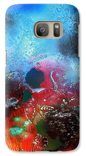 World Of Reefs Galaxy S7 Case Printed with Fine Art spray painting image World Of Reefs by Nandor Molnar (When you visit the Shop, change the orientation, background color and image size as you wish)