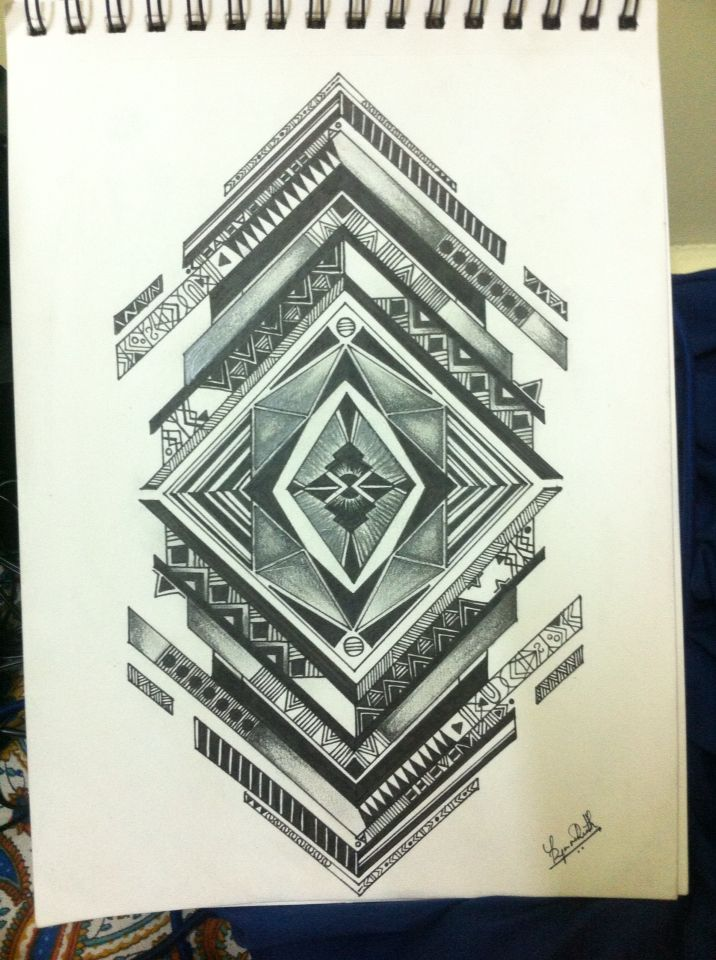 Inspired pen art with a touch of shading. Art work to be framed.