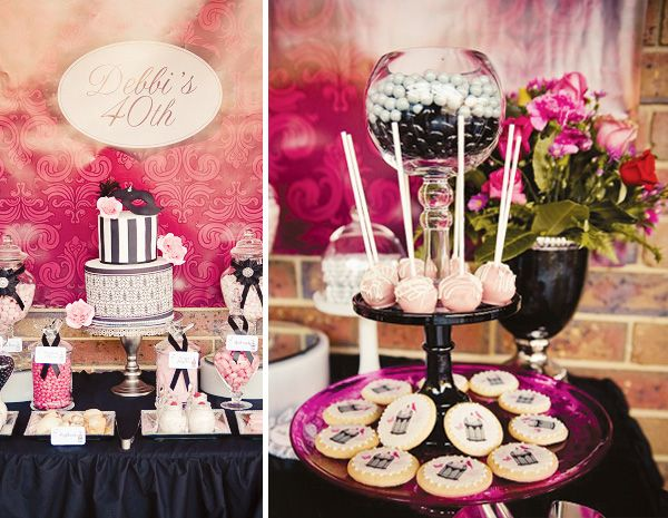 Chic Masquerade Themed 40th Birthday Party // Hostess with the Mostess®