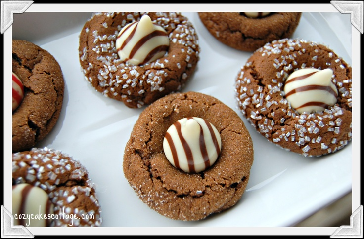 Kissed Gingerbread Cookies Cozycakes Cottage