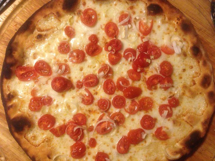 Mozzarella, porri, pomodorini