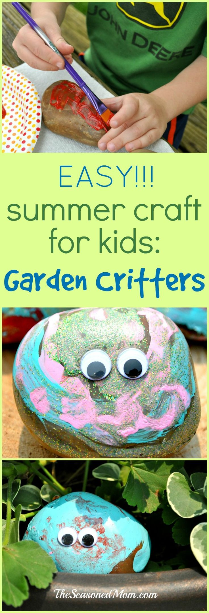 Easy Summer Craft for Kids  Garden Critters3390 best images about Craft   arty ideas for kids and adults on  . Fun Crafts For Your Home. Home Design Ideas