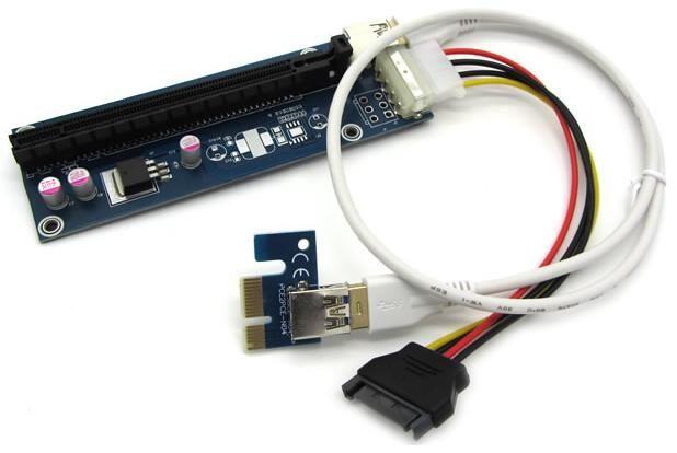 $280.25 (Buy here: https://alitems.com/g/1e8d114494ebda23ff8b16525dc3e8/?i=5&ulp=https%3A%2F%2Fwww.aliexpress.com%2Fitem%2FFree-Shipping-PCI-E-PCI-E-1X-to-16X-Riser-Card-USB-3-0-Extender-Cable%2F32726977905.html ) Free Shipping PCI-E PCI E  1X to 16X Riser Card +60CM USB 3.0 Extender Cable with Power Supply for Bitcoin Litecoin Miner for just $280.25