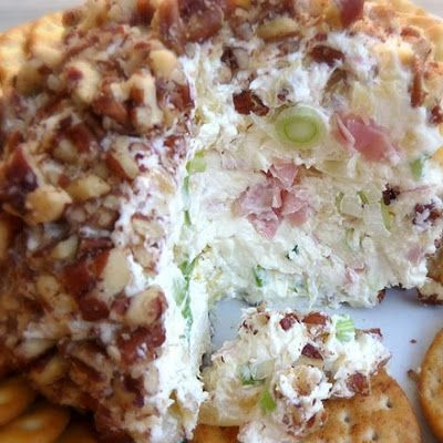 Ham and Pineapple Cheeseball @keyingredient #cheese