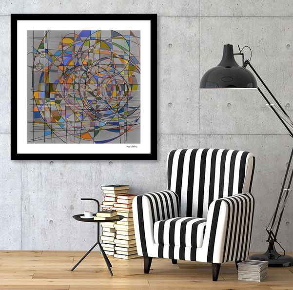 Discover Abstract Composition 340 Limited Edition Fine Art Print By Angel