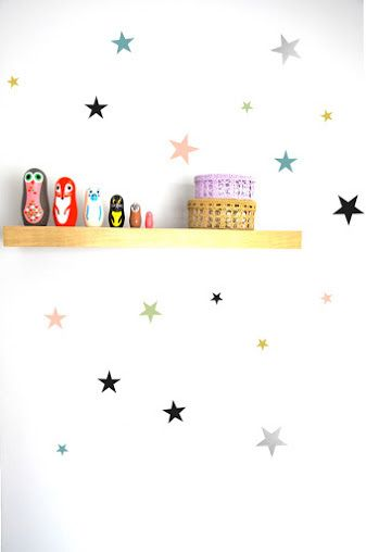 Pom Cosy Star Wall Decals available for international delivery from online kids store www.alittlebitofcheek.com.au