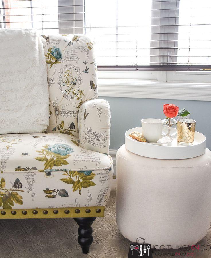 Make your own ottoman, DIY ottoman, DIY footstool, round foot stool, round ottoman, upholstered ottoman, upholstered footstool