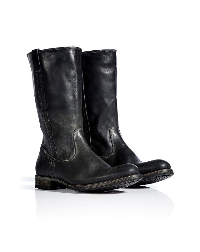 N.D.C. Asphalt Leather Dominique Mid-Length Boots