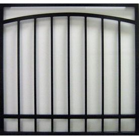 Gatehouse 36-in Black Arched Window Security Bar
