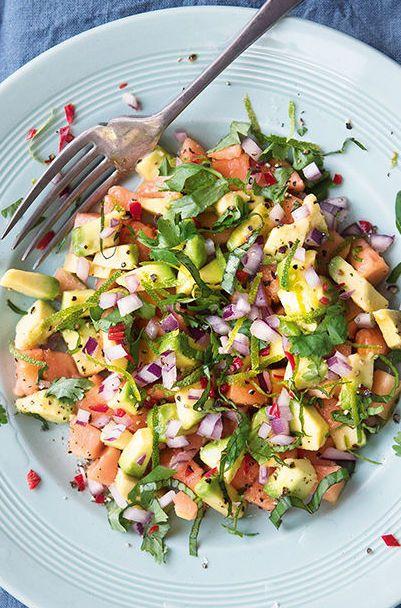A flavorful and zesty Avocado Papaya Salad