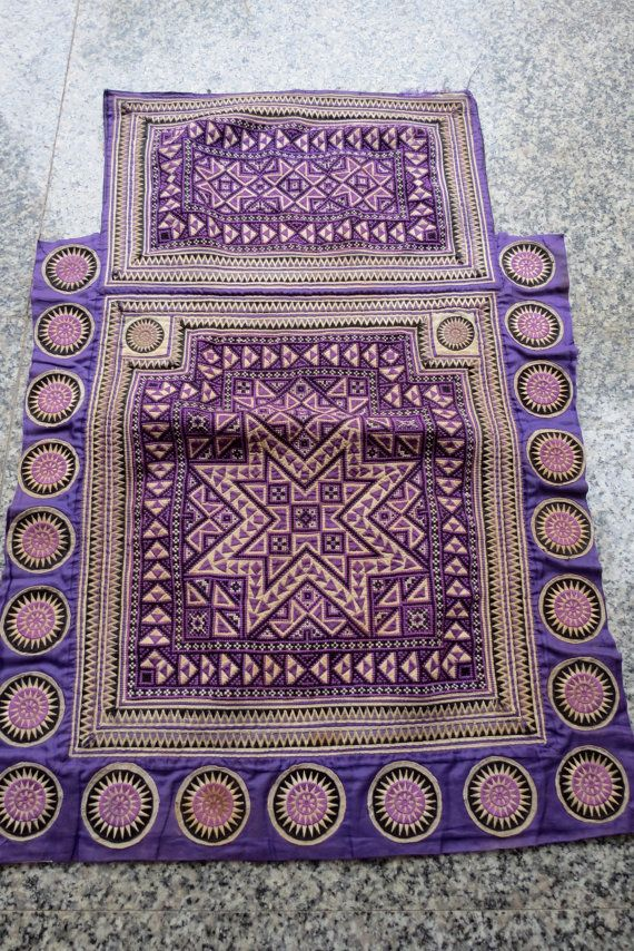 Vintage Hmong Fabric, handmade tapestry textiles, hill tribal fabrics- Baby carrier- from Thailand on Etsy, $39.99