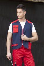 PAGAMENTO ANCHE ALLA CONSEGNA Gilet Multitasche da Lavoro Uomo Industria Tecnico Operaio Abbigliamento Abiti