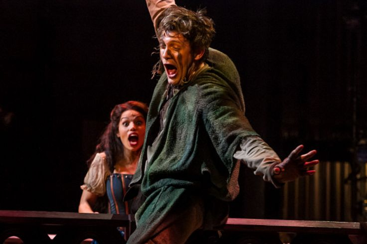 THE HUNCHBACK OF NOTRE DAME at Paper Mill Playhouse Photos by Jerry Dalia -- Michael Arden as Quasimodo and Ciara Renée as Esmeralda